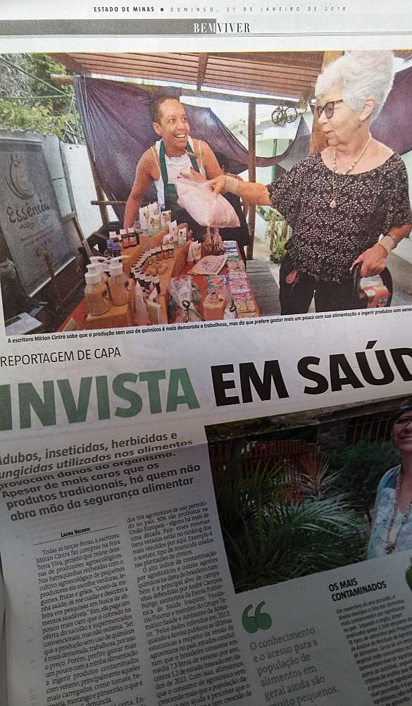 Produtos Sítio Entoá na capa do EM!