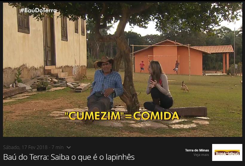 Programa Terra de Minas: Língua Boa da Lapinha